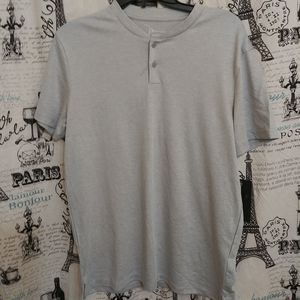 Marc Antony Luxury Gray Shirt M
